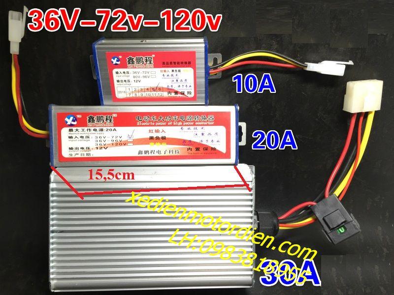 Hạ nguồn DC 24v-36v-48v-72v xuống 12v 30A