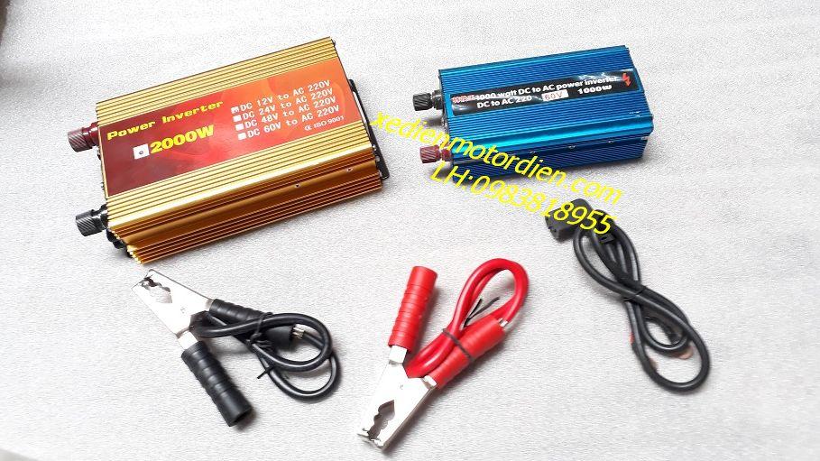 Kích điện 12v, 48v, 60v DC lên 220vAC 1000w và 2000w