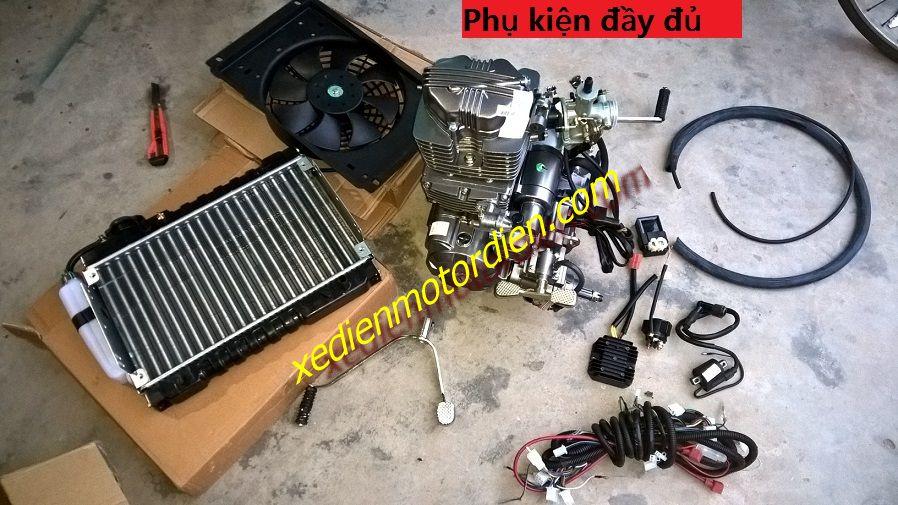 Trọn bộ sản phẩm bao gồm:  động cơ, cần số, cổ chế, chế, quạt, két nước, dây nước, hệ thống dây điện, mobin, ic, rơ le, nạp  Phần khác mua thêm vui lòng liên hệ